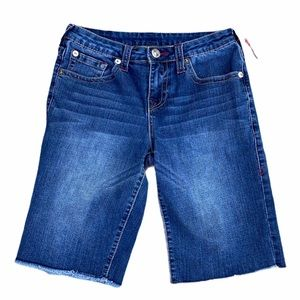 True Religion Girls section cut off jean shorts